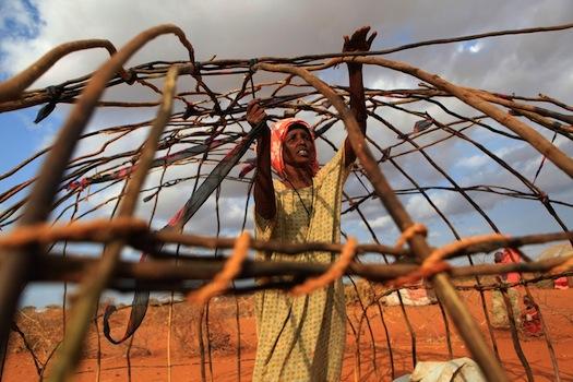 makeshift shelter horn of Africa via Big Picture