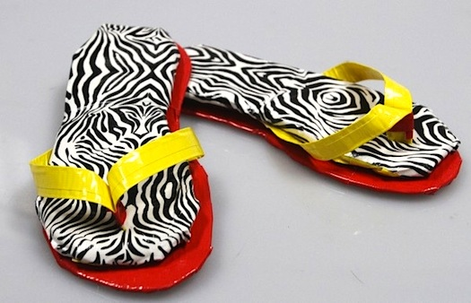 zebra duct tape sandals