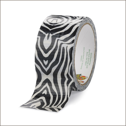 zebra duct duck tape