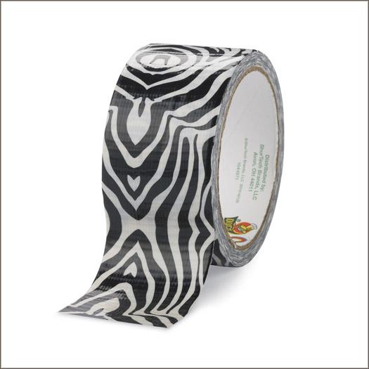 zebra duct duck tape