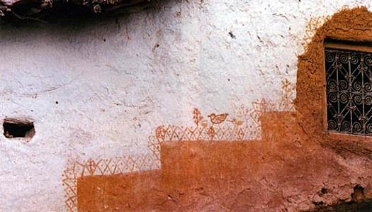 Berber wall painting