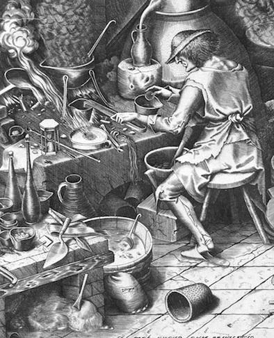 The Alchemist by Peter Bruegel the Elder