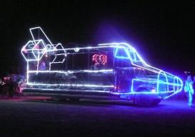 Burning Man neon car