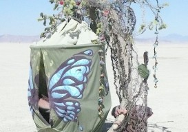Burning Man cocoon shelter
