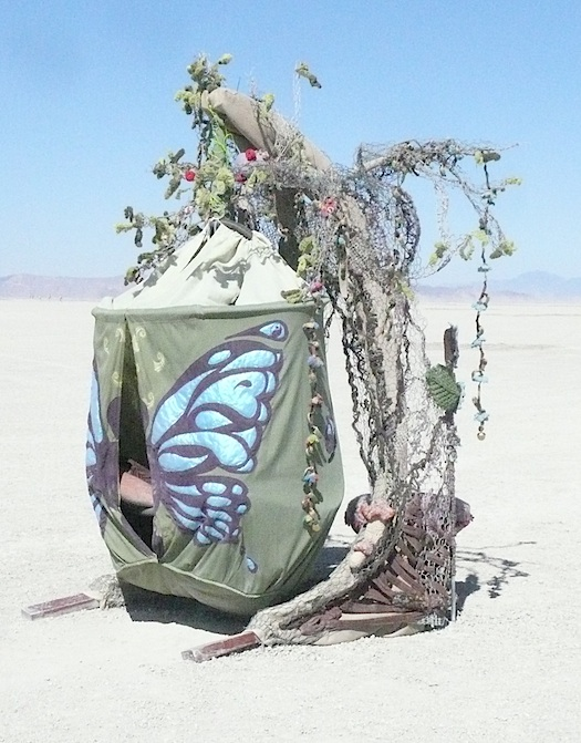 Burning Man cocoon shelter