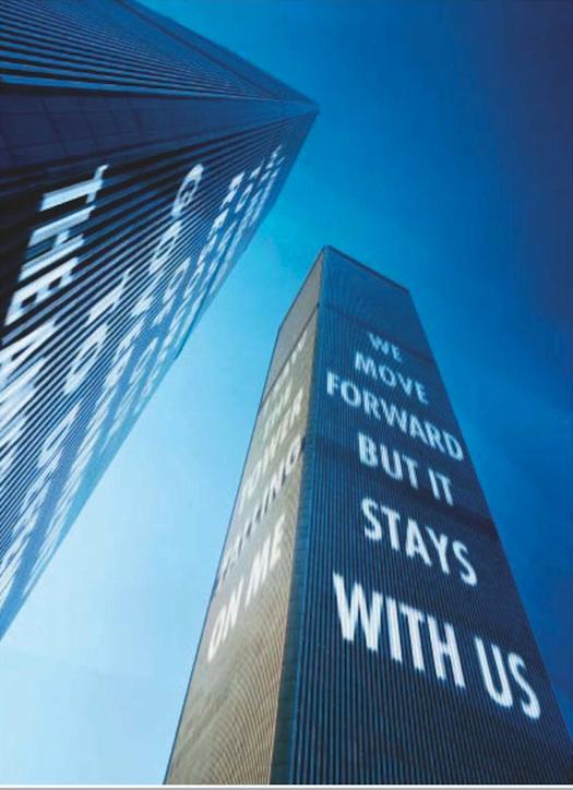 Jenny Holzer 9/11 image Time Magazine