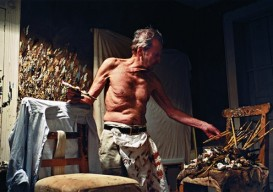 Lucien Freud, 82, painting