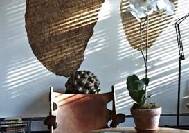 Scott Newkirk Brkln apt walnut shell wall art