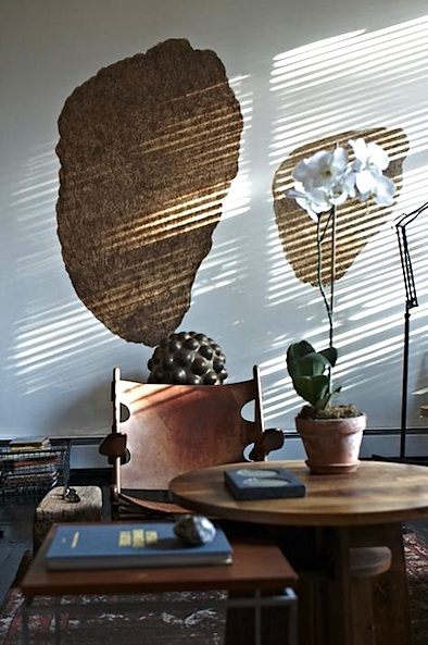 Scott Newkirk Brkln apt walnut shell wall art