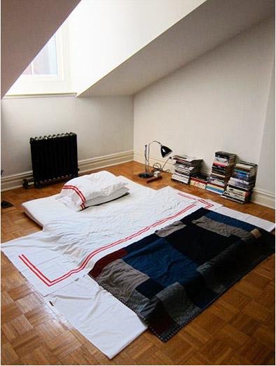 Jeffrey Miller bed on floor