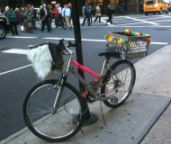 improvised bike carriers NYC