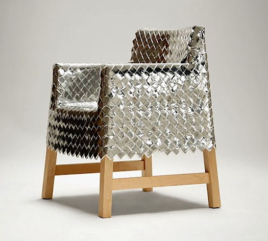 emiliano godoy candy wrapper weaving chair