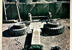 makeshift gym, Afghanistan