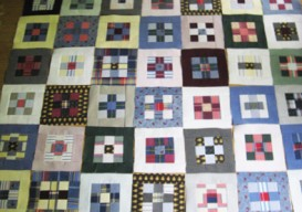 quilts made from a father's shirts