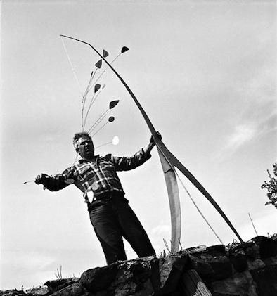Calder at work 1941 Herbert Matter