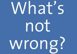 What's not wrong? blue