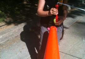 improvised street tennis