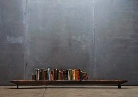 floor mounted book rail