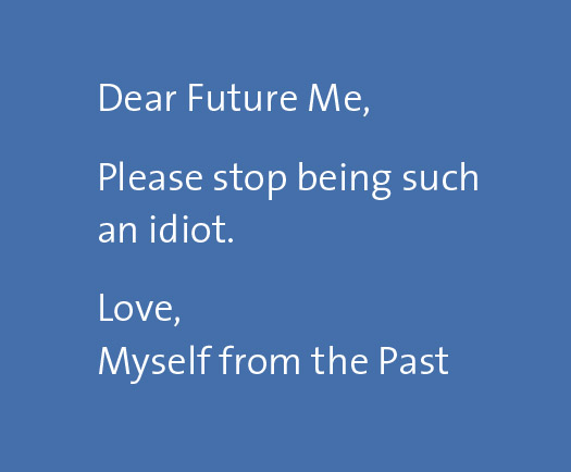 FutureMe message