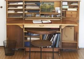 mid century modern folding desk