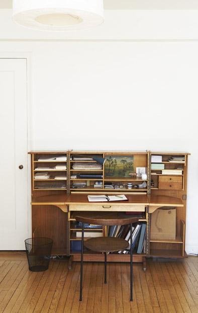 midcentury modern folding desk