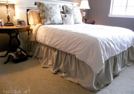 drop cloth as bed skirt