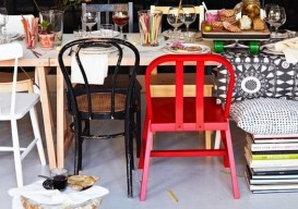 mismatched chairs: ikea