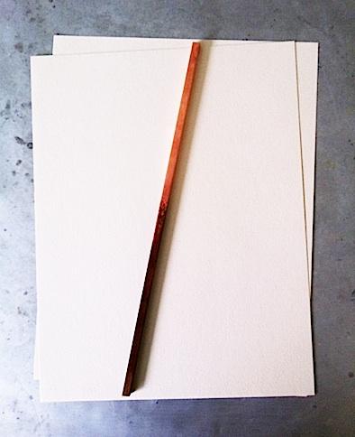 copper paperweight book bar