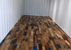 shipping container pallet floor