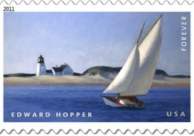 Edward Hopper stamp nail polish