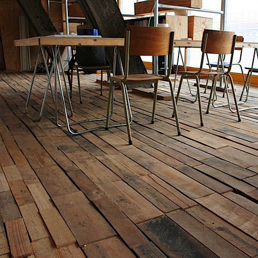 shipping pallet floor unfinished wood