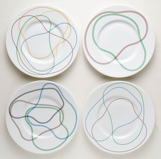 Limoges plates designed by Pierre Charpin
