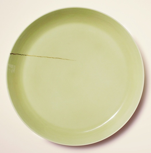 """Ted Muehling's """"cracked"""" dinner plate"""