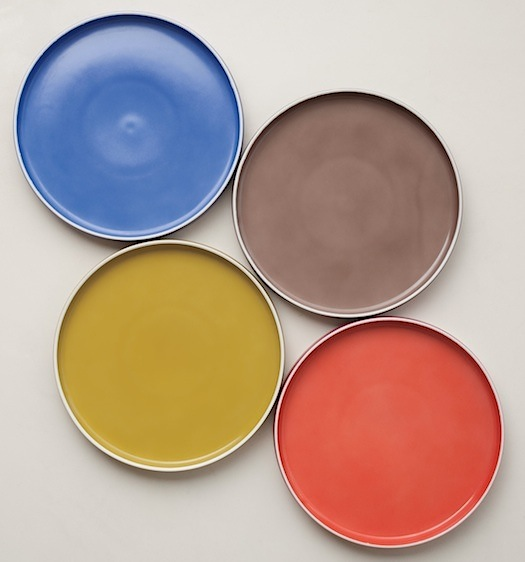 Chromatics porcelain plates