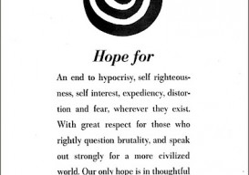 Alexander Louisa Calder's New York Times New Year's Wish Ad 1966