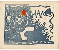 Alexander Calder's holiday card 1930