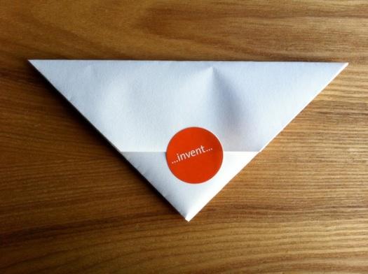 triangular letter sealed
