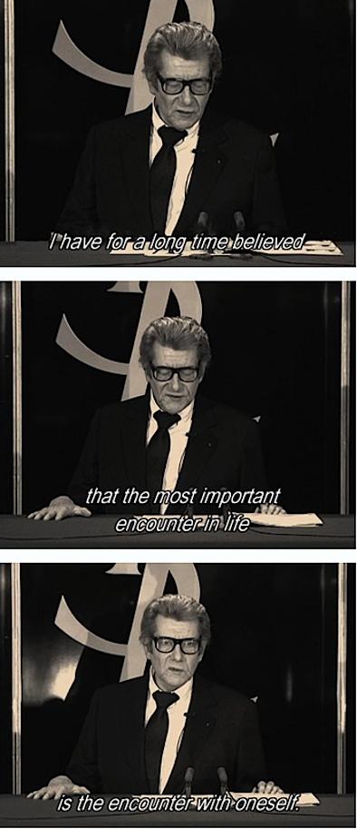 yves st laurent retirement speech