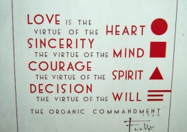 'The Organic Commandment' Frank Lloyd Wright