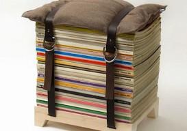 magazine belted stool