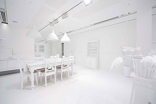 white room as palette for stickers