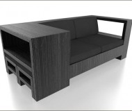 Apart's black shipping pallet sofa