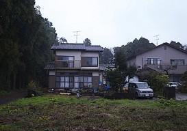whitewashed house before