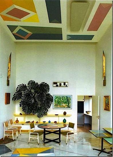 geometric ceiling by gio ponti