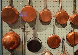 pegboard copper pots