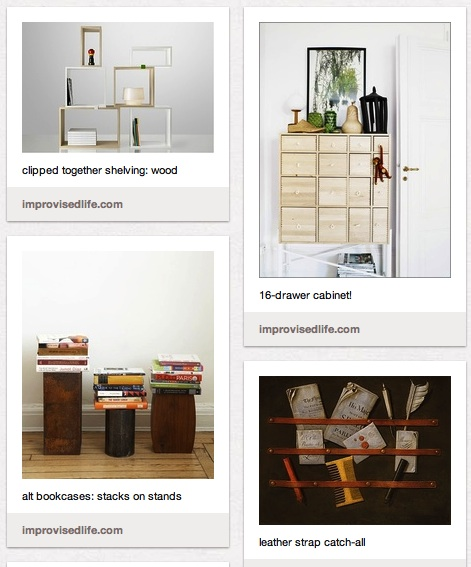 'Improvised Life Pinterest: Storage