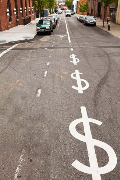 dollar sign street lines