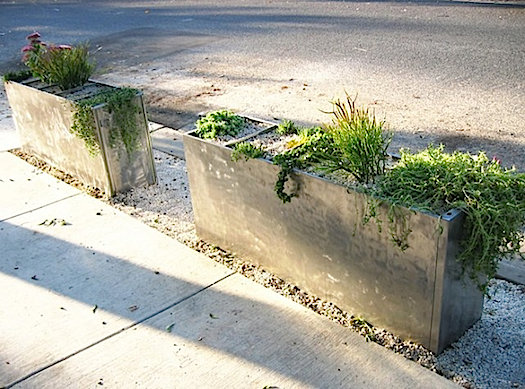 planter made from a file cabinet