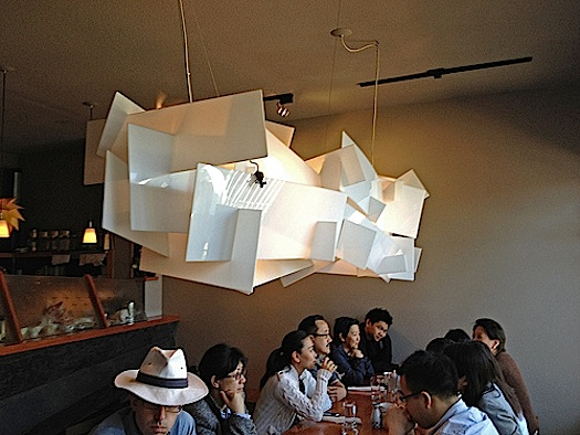 pendant lamp at gundrun restaurant