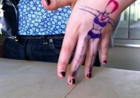 Izzy's hand dancing girl
